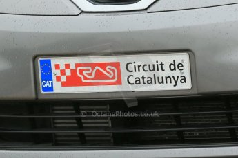 World © Octane Photographic Ltd. F1 Spanish GP, Circuit de Catalunya, Friday 10th May 2013. Practice 1. Even the circuit cars want Catalan independence (Catalonia independence). Digital Ref : 0659cb1d8857