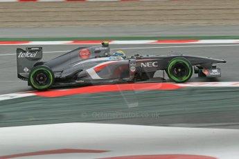 World © Octane Photographic Ltd. F1 Spanish GP, Circuit de Catalunya, Friday 10th May 2013. Practice 1. Esteban Gutierrez - Sauber. Digital Ref : 0659cb1d9041
