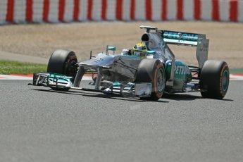 World © Octane Photographic Ltd. F1 Spanish GP, Circuit de Catalunya, Friday 10th May 2013. Practice 2. Mercedes - Nico Rosberg. Digital Ref : 0661cb1d9476