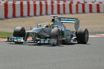 World © Octane Photographic Ltd. F1 Spanish GP, Circuit de Catalunya, Friday 10th May 2013. Practice 2. Mercedes - Nico Rosberg. Digital Ref : 0661cb1d9533