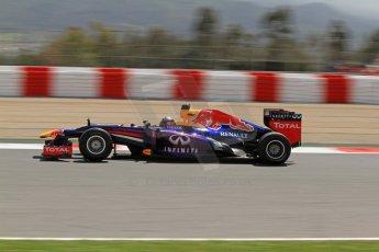 World © Octane Photographic Ltd. F1 Spanish GP, Circuit de Catalunya, Friday 10th May 2013. Practice 2. Infiniti Red Bull Racing - Sebastian Vettel. Digital Ref : 0661cb7d8941