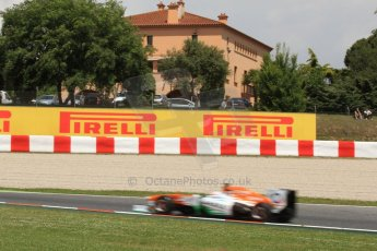 World © Octane Photographic Ltd. F1 Spanish GP, Circuit de Catalunya, Friday 10th May 2013. Practice 2. Sahara Force India - Paul di Resta. Digital Ref : 0661cb7d8943