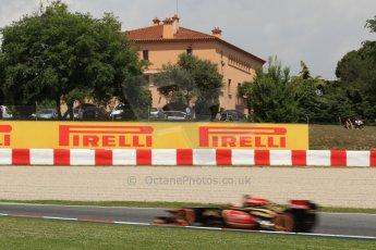 World © Octane Photographic Ltd. F1 Spanish GP, Circuit de Catalunya, Friday 10th May 2013. Practice 2. Lotus - Kimi Raikkonen. Digital Ref : 0661cb7d8944
