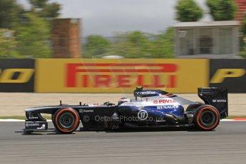 World © Octane Photographic Ltd. F1 Spanish GP, Circuit de Catalunya, Friday 10th May 2013. Practice 2. Williams - Valterri Bottas. Digital Ref : 0661cb7d8980