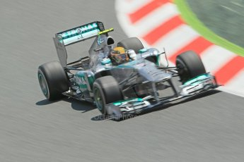World © 2013 Octane Photographic Ltd. F1 Spanish GP, Circuit de Catalunya - Sunday 12th May 2013 - Race. Mercedes W04 – Lewis Hamilton. Digital Ref : 0673cb1d2526