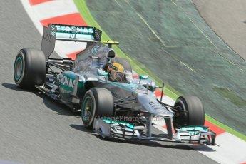 World © 2013 Octane Photographic Ltd. F1 Spanish GP, Circuit de Catalunya - Sunday 12th May 2013 - Race. Mercedes W04 - Nico Rosberg. Digital Ref : 0673cb1d2579