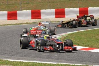 World © 2013 Octane Photographic Ltd. F1 Spanish GP, Circuit de Catalunya - Sunday 12th May 2013 - Race. Vodafone McLaren Mercedes MP4/28 - Sergio Perez . Digital Ref : 0673cb7d9429