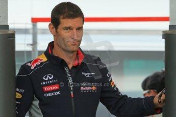 World © Octane Photographic Ltd. F1 Spanish GP - Saturday Paddock - 11th May 2013. Mark Webber - Infiniti Red Bull Racing. Digital Ref : 0668cb1d0221