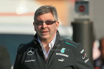 World © 2013 Octane Photographic Ltd. F1 Spanish GP, Circuit de Catalunya - Sunday 12th May 2013 - Paddock. Mercedes team boss - Ross Brawn. Digital Ref : 0675cb1d1831