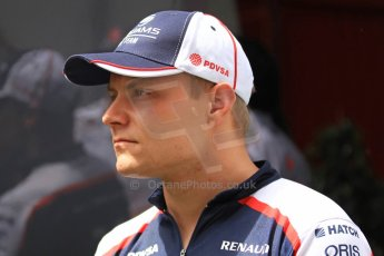World © Octane Photographic Ltd. F1 Spanish GP Thursday 9th May 2013. Valterri Bottas - Williams. Press Conference. (paddock outside press room). Digital Ref :