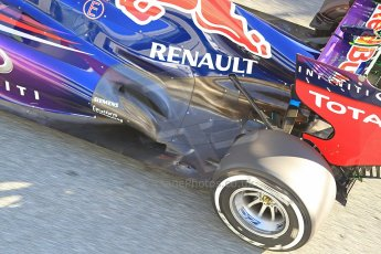 World © Octane Photographic Ltd. Formula 1 Winter Test Jerez – Day 1 – Tuesday 5th February 2013. Infiniti Red Bull Racing RB9 exhaust detail. Mark Webber. Digital Ref: 0571cb7d6537
