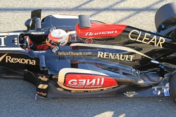 World © Octane Photographic Ltd. Formula 1 Winter Test Jerez – Day 1 – Tuesday 5th February 2013. Lotus E31 - Romain Grosjean. Digital Ref: 0571cb7d6644