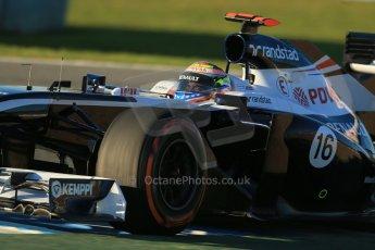 World © Octane Photographic Ltd. Formula 1 Winter Test Jerez – Day 1 – Tuesday 5th February 2013. Williams FW34 – Pastor Maldonado. Digital Digital Ref: 0571lw1d7650