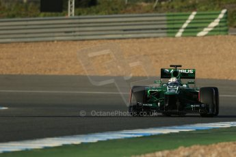 World © Octane Photographic Ltd. Formula 1 Winter Test Jerez – Day 1 – Tuesday 5th February 2013. Caterham CT03 - Giedo van der Garde. Digital Ref: 0571lw1d7730