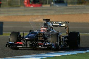 World © Octane Photographic Ltd. Formula 1 Winter Test Jerez – Day 1 – Tuesday 5th February 2013. Sauber C32, Nico Hulkenberg. Digital Ref: 0571lw1d7755