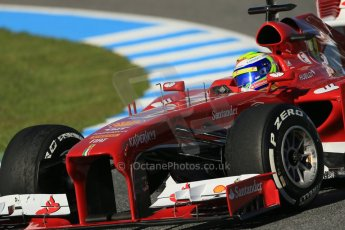 World © Octane Photographic Ltd. Formula 1 Winter Test Jerez – Day 1 – Tuesday 5th February 2013. Ferrari F138 – Felipe Massa. Digital Ref: 0571lw1d7877