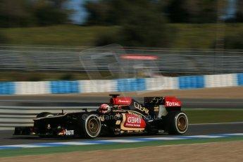 World © Octane Photographic Ltd. Formula 1 Winter Test Jerez – Day 1 – Tuesday 5th February 2013. Lotus E31 - Romain Grosjean. Digital Ref: 0571lw1d8166