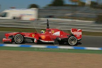 World © Octane Photographic Ltd. Formula 1 Winter Test Jerez – Day 1 – Tuesday 5th February 2013. Ferrari F138 – Felipe Massa. Digital Ref: 0571lw1d8215