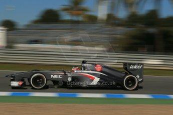 World © Octane Photographic Ltd. Formula 1 Winter Test Jerez – Day 1 – Tuesday 5th February 2013. Sauber C32, Nico Hulkenberg. Digital Ref: 0571lw1d8329