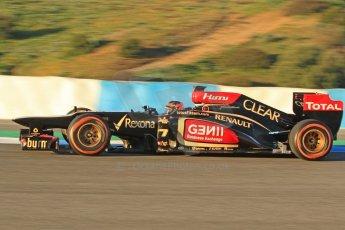 World © Octane Photographic Ltd. Formula 1 Winter testing, Jerez, 7th February 2013. Lotus E31, Kimi Raikkonen. Digital Ref: 0573cb7d7133