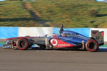 World © Octane Photographic Ltd. Formula 1 Winter testing, Jerez, 7th February 2013. Vodafone McLaren Mercedes MP4/28, Jenson Button. Digital Ref: 0573cb7d7161