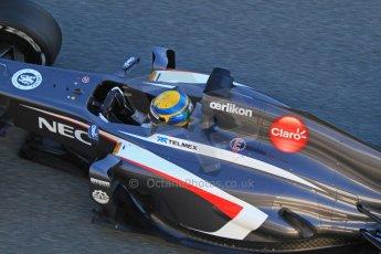 World © Octane Photographic Ltd. Formula 1 Winter testing, Jerez, 7th February 2013. Sauber C32, Esteban Gutierrez. Digital Ref: 0573cb7d7178