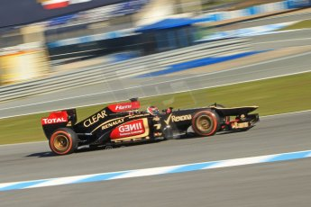World © Octane Photographic Ltd. Formula 1 Winter testing, Jerez, 7th February 2013. Lotus E31, Kimi Raikkonen. Digital Ref: 0573cb7d7302