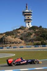World © Octane Photographic Ltd. Formula 1 Winter testing, Jerez, 7th February 2013. Toro Rosso STR8, Jean-Eric Vergne. Digital Ref: 0573cb7d7315