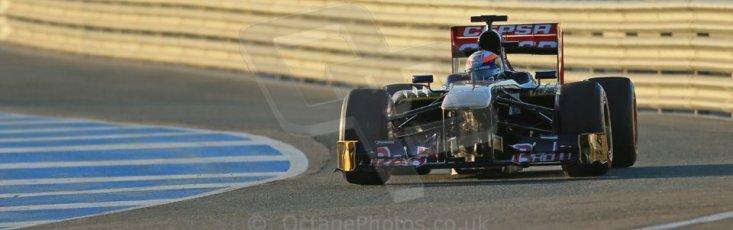 World © Octane Photographic Ltd. Formula 1 Winter testing, Jerez, 7th February 2013. Toro Rosso STR8, Jean-Eric Vergne. Digital Ref: 0573lw1d8904