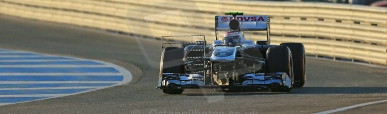 World © Octane Photographic Ltd. Formula 1 Winter testing, Jerez, 7th February 2013. Williams FW34, Valterri Bottas. Digital Ref: 0573lw1d8931