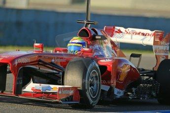 World © Octane Photographic Ltd. Formula 1 Winter testing, Jerez, 7th February 2013. Ferrari F138 – Felipe Massa. Digital Ref: 0573lw1d9040