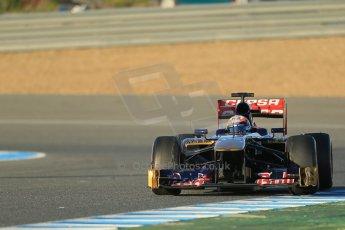 World © Octane Photographic Ltd. Formula 1 Winter testing, Jerez, 7th February 2013. Toro Rosso STR8, Jean-Eric Vergne. Digital Ref: 0573lw1d9050