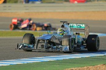 World © Octane Photographic Ltd. Formula 1 Winter testing, Jerez, 7th February 2013. Mercedes AMG Petronas F1 W04, Nico Rosberg. Digital Ref: 0573lw1d9100