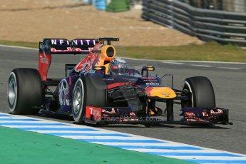 World © Octane Photographic Ltd. Formula 1 Winter testing, Jerez, 7th February 2013. Infiniti Red Bull Racing RB9, Sebastian Vettel. Digital Ref: 0573lw1d9426