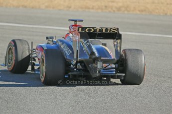 World © Octane Photographic Ltd. Formula 1 Winter testing, Jerez, 7th February 2013. Lotus E31, Kimi Raikkonen. Digital Ref: 0573lw1d9635