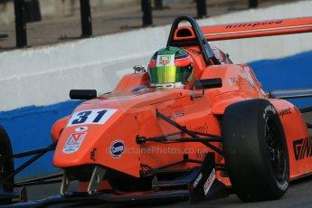 World © Octane Photographic Ltd. BRDC Formula 4 (F4) Race 1, Donington Park 28th September 2013. MSVF4-13, Hillspeed, Seb Morris. Digital Ref : 0833lw1d9853