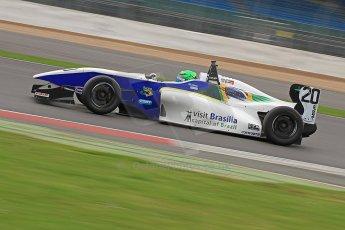 World © Octane Photographic Ltd. BRDC Formula 4 (F4) Championship, Silverstone, April 27th 2013. MSV F4-013, HHC Motorsport, Gustavo Lima. Digital Ref : 0642cb7d9410