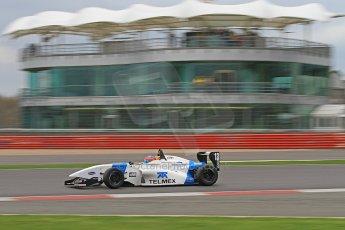 World © Octane Photographic Ltd. BRDC Formula 4 (F4) Championship Silverstone, April 27th 2013. MSV F4-013, Mark Goodwin Racing, Diego Menchaca. Digital Ref : 0642cb7d9448
