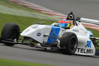 World © Octane Photographic Ltd. BRDC Formula 4 (F4) Championship Silverstone, April 27th 2013. MSV F4-013, Mark Goodwin Racing, Diego Menchaca. Digital Ref : 0642lw7d6987