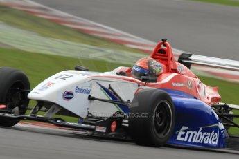 World © Octane Photographic Ltd. BRDC Formula 4 (F4) Championship, Silverstone, April 27th 2013. MSV F4-013, Mark Goodwin Racing, Pietro Fittipaldi. Digital Ref : 0642lw7d6996