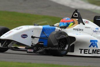World © Octane Photographic Ltd. BRDC Formula 4 (F4) Championship Silverstone, April 27th 2013. MSV F4-013, Mark Goodwin Racing, Diego Menchaca. Digital Ref : 0642lw7d7097