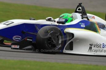 World © Octane Photographic Ltd. BRDC Formula 4 (F4) Championship, Silverstone, April 27th 2013. MSV F4-013, HHC Motorsport, Gustavo Lima. Digital Ref : 0642lw7d7125