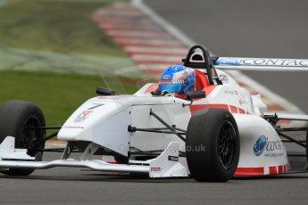 World © Octane Photographic Ltd. BRDC Formula 4 (F4) Championship, Silverstone, April 27th 2013. MSV F4-013, Lanan Racing, Jake Hughes. Digital Ref : 0642lw7d7234