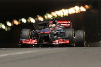 World © 2013 Octane Photographic Ltd. F1 Monaco GP, Monte Carlo - Thursday 23rd May 2013 - Practice 2. Vodafone McLaren Mercedes MP4/28 - Sergio Perez. Digital Ref : 0694lw1d7765