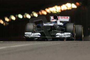 World © 2013 Octane Photographic Ltd. F1 Monaco GP, Monte Carlo -Thursday 23rd May 2013 - Practice 2. Williams FW35 - Valtteri Bottas. Digital Ref : 0694lw1d7821