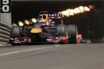 World © 2013 Octane Photographic Ltd. F1 Monaco GP, Monte Carlo -Thursday 23rd May 2013 - Practice 2. Infiniti Red Bull Racing RB9 - Sebastian Vettel. Digital Ref :  0694lw1d7870
