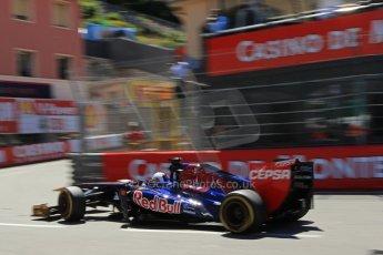 World © 2013 Octane Photographic Ltd. F1 Monaco GP, Monte Carlo -Thursday 23rd May 2013 - Practice 2. Scuderia Toro Rosso STR8 - Jean-Eric Vergne. Digital Ref : 0694lw1d8087