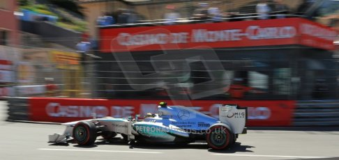 World © 2013 Octane Photographic Ltd. F1 Monaco GP, Monte Carlo -Thursday 23rd May 2013 - Practice 2. Mercedes AMG Petronas F1 W04 – Lewis Hamilton. Digital Ref : 0694lw1d8104