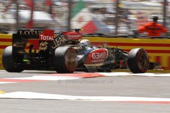 World © 2013 Octane Photographic Ltd. F1 Monaco GP, Monte Carlo -Thursday 23rd May 2013 - Practice 2. Lotus F1 Team E21 - Romain Grosjean. Digital Ref : 0694lw7d7747
