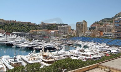 World © Octane Photographic Ltd. Monaco Formula One, Wednesday 22nd May 2013, Monte Carlo. The harbour viewed from the run up to Casino Square. Digital Ref : 0691cb7d0512